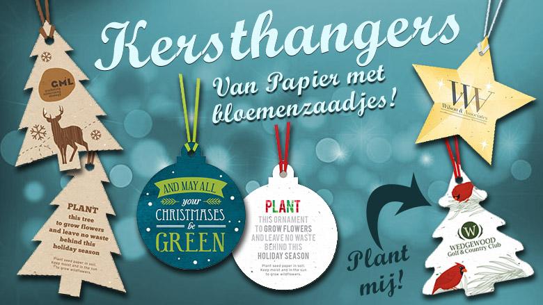 Plant mij: Papieren kersthangers met zaadjes