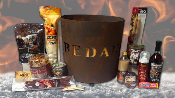 mooie vuurkorf kerstpakket voor mannen