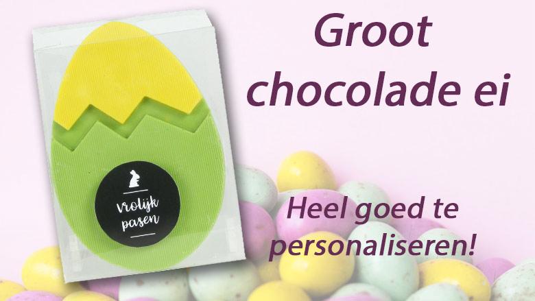 Groot chocolade paasei