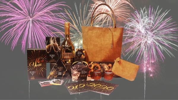 kerstpakket met 2020 en luxe tas