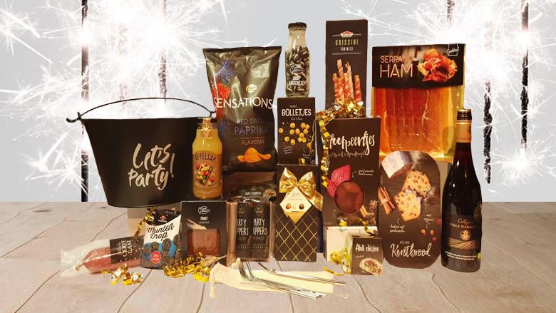 Kerstpakket met gevulde teil, Let's Party!