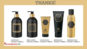 Thanks handwash en bodylotion en handcreme