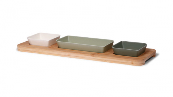 24348 - Art of Nature Bamboo Tapas board groen, ecologisch