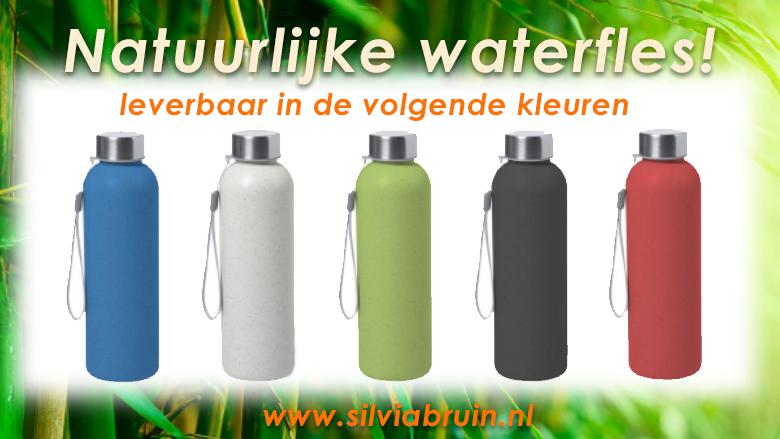 Duurzaam geschenk waterfles van bamboe vezels