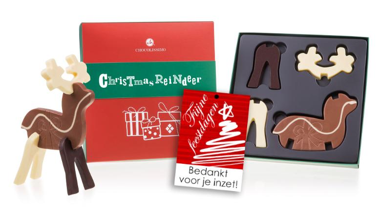 3D Chocolade: Maak je eigen rendier! brievenbusgeschenk