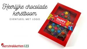 heerlijke chocolade kerstboom brievenbusgeschenk