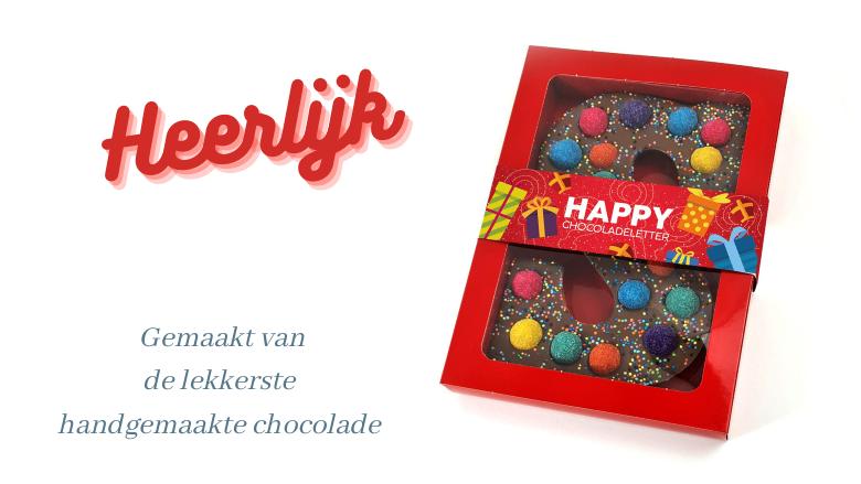 Chocolade letter handgemaakt eventueel met logo