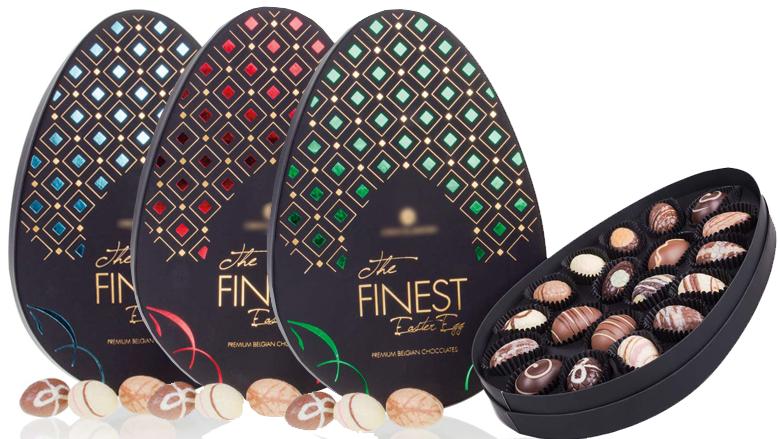 Luxe paasei gevuld met chocolade
