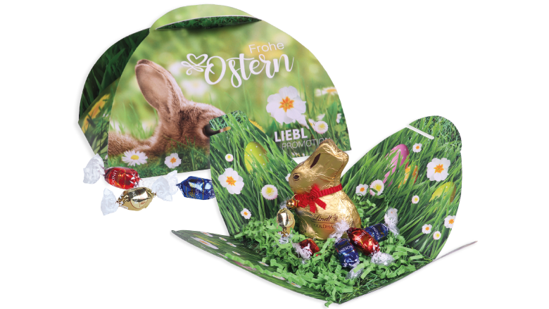 Paaschocolade van Lindt in uitvouwbaar doosje