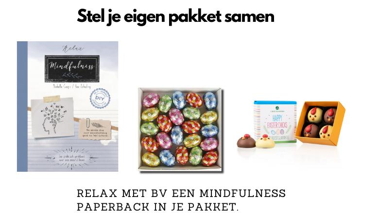 Paaspakket met mindfulness boek zelf samenstellen