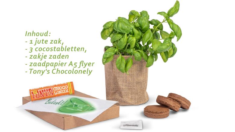 Duurzaam groei en bloei brievenbus cadeau