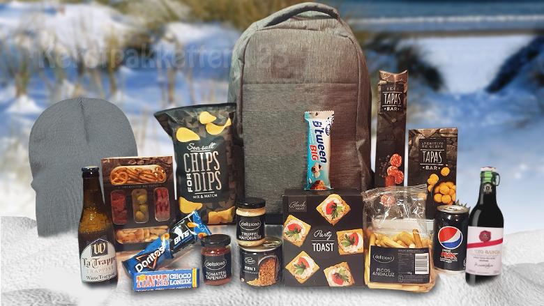 Kerstpakket veilige feestdagen met anti diefstal tas