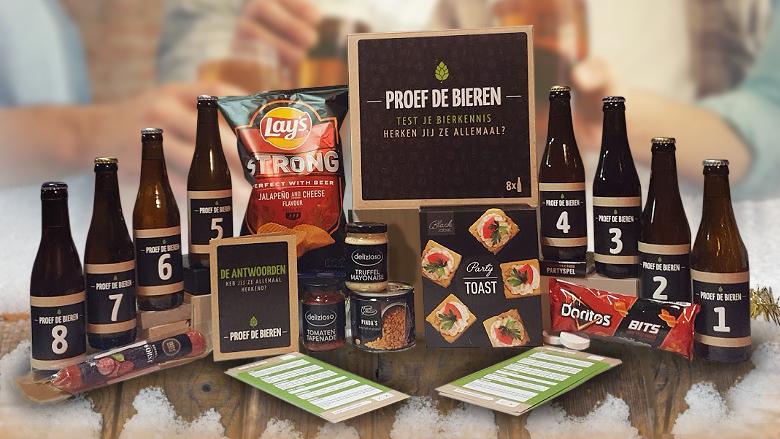 Bierproeverij kerstpakket wie heeft de meeste kennis