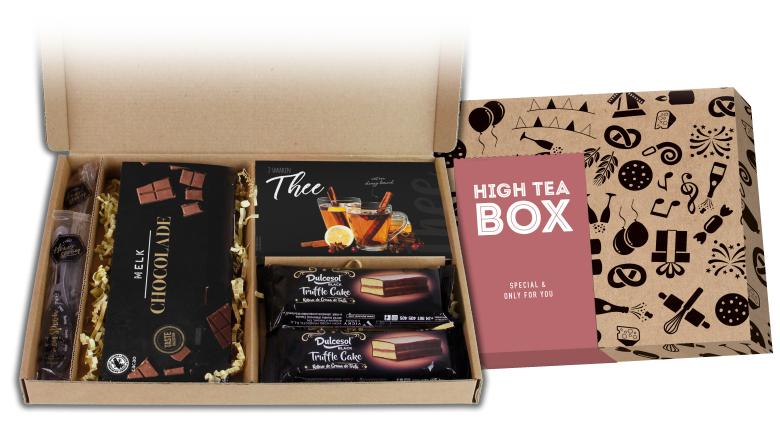 Heerlijke high tea box brievenbusgeschenk